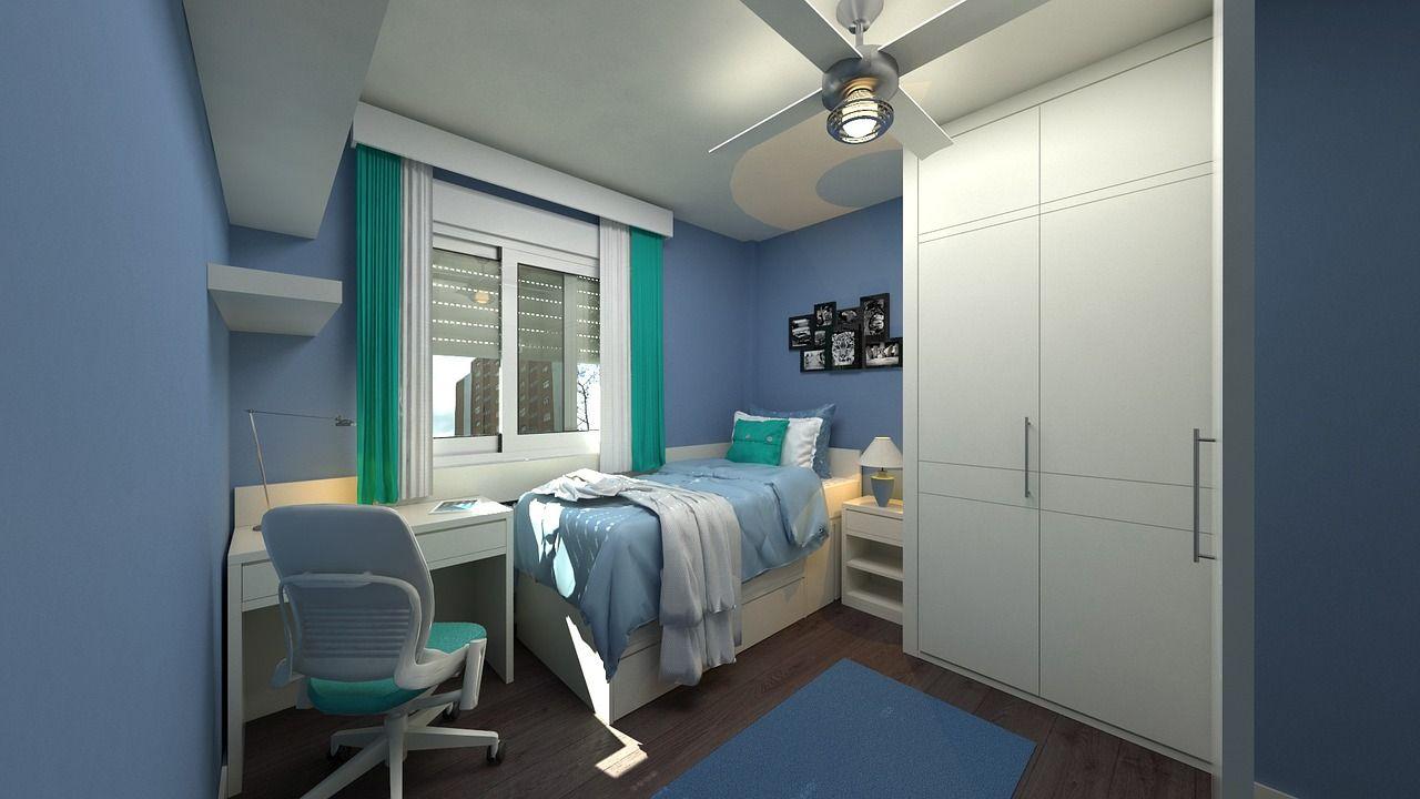 Pintores-Córdoba-Habitación-Tonos-Azules